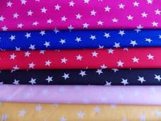 20mm Star Print 100% Cotton Fabrics