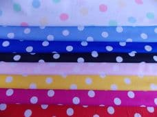 22mm 100% Cotton Polka Dot Spot Fabrics