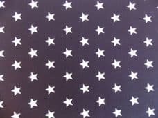 Black with 20mm White Stars 100% Cotton Fabric ROSE & HUBBLE