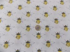 BUMBLEBEE FABRIC CHILDRENS FABRIC ROSE & HUBBLE 100% COTTON PER 1 METRE