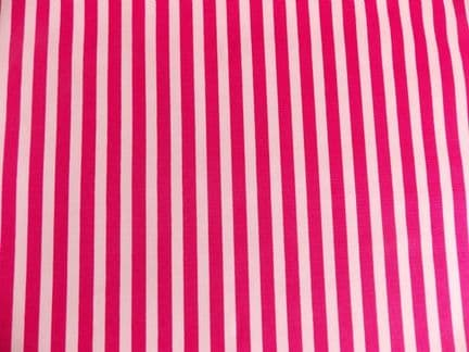Cerise pink with White Stripe 100% Cotton Fabric