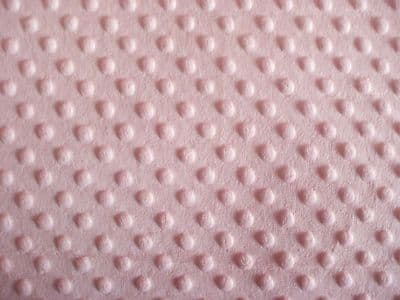 DIMPLE FLEECE SUPERSOFT FABRIC 100% POLYESTER PER 1 METRE PINK