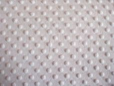 DIMPLE FLEECE SUPERSOFT FABRIC 100% POLYESTER PER 1 METRE WHITE