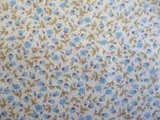 Floral 100% Cotton Fabric in Blue
