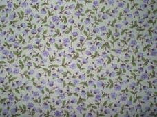 Floral 100% Cotton Fabric in Lilac