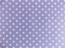Light Blue with 7mm White Spot 100% Cotton Fabric