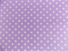 Lilac with 7mm White Spot 100% Cotton Fabric