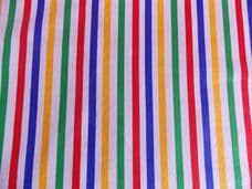 Multi Colour with White Stripe 100% Cotton Fabric