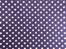 Navy Blue with 7mm White Spot 100% Cotton Fabric