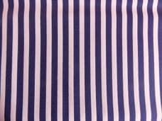 Navy Blue with White Stripe 100% Cotton Fabric