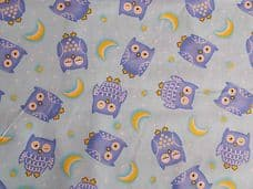 NIGHT OWL100% COTTON  CHILDRENS PRINT FABRIC PER METRE