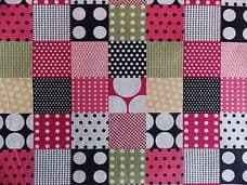 PATCHWORK SPOT FABRIC 100% COTTON PER 1 METRE GINGHAM SPOT PINKS MULTI