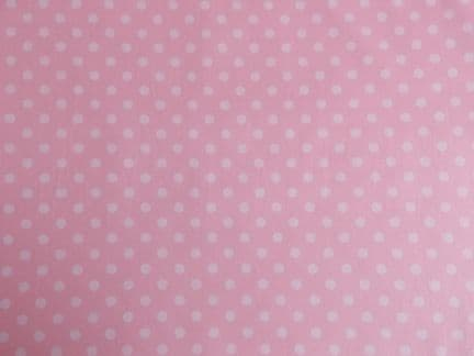 Pink with 7mm White Spot 100% Cotton Fabric