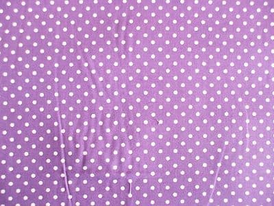 Purple with 3mm White Spot 100% Cotton Fabric