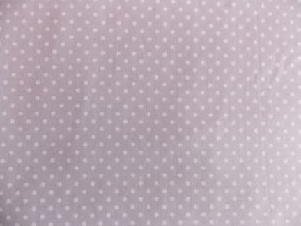 Rose & Hubble silver / grey with 3mm White Spot 100% Cotton Fabric