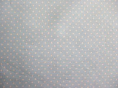 Rose & Hubble Sky Blue with 3mm White Spot 100% Cotton Fabric