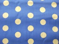 Royal Blue with 20mm White Spot Polyotton Fabric