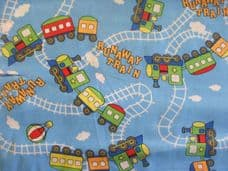 Runaway train Print 100% Cotton Fabric