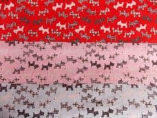 Scottie dogs fabric print poly cotton per metre pets dog animal (1)