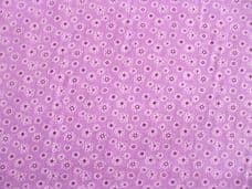 Small Daisy Print Polycotton Fabric in Purple
