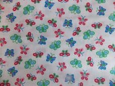Summer butterfly fabric sold per metre