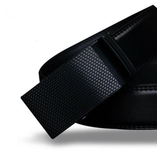 Belt Men's Black Genuine-Leather Cowskin Mens Business Belts Auto Buckle - Zabardo
