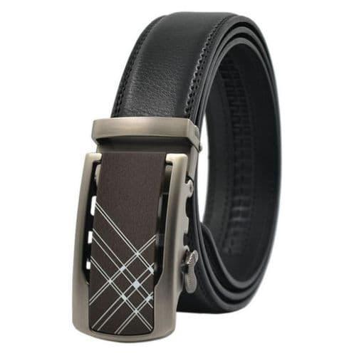 Belt Men's Buckle Leather  Cowskin Mens Business Belts Auto Buckle Zabardo