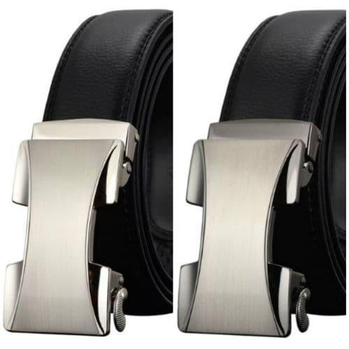Belt Men's Cowskin Leather Mens Belts Business Dress Fashion Auto Buckle Zabardo