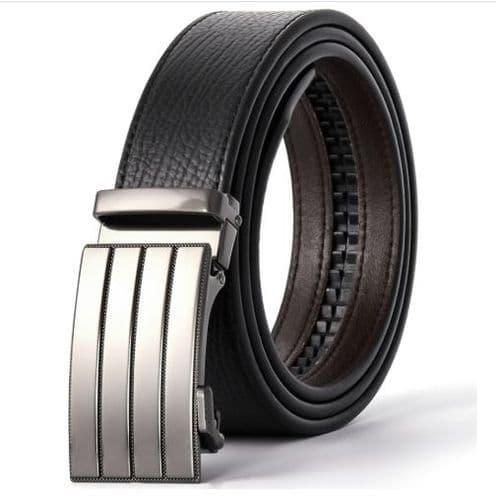 Belt Men's  Leather Business Belts Auto-Buckle Zabardo