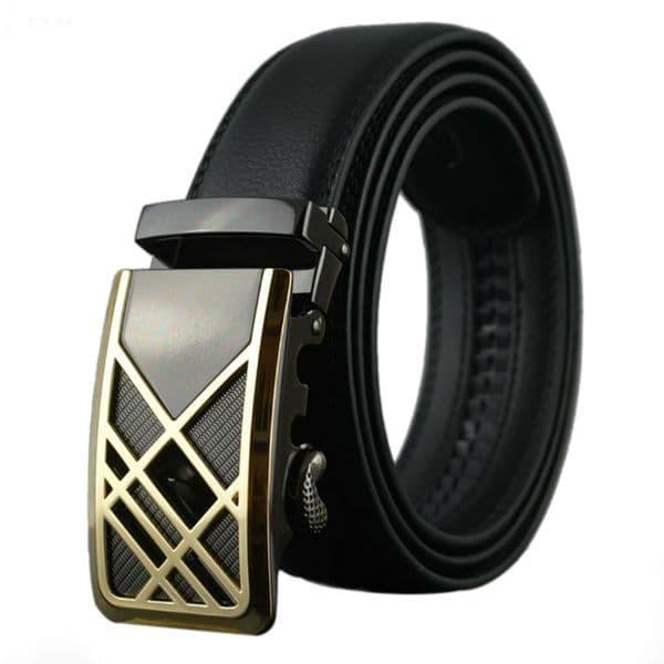 Belt Men's Leather Cowskin Mens Belts Designer Auto-Buckle Free Post Zabardo