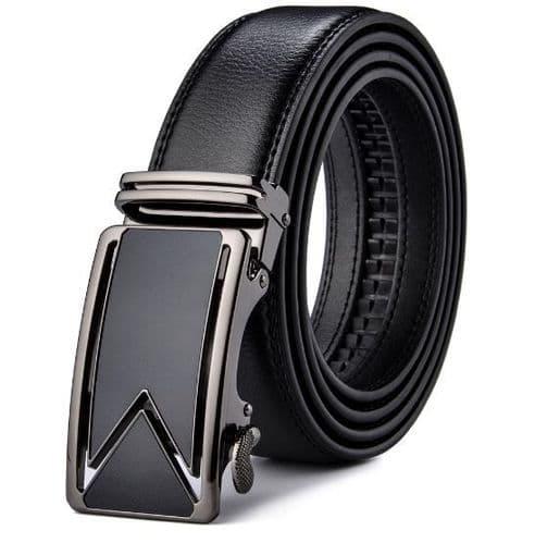 Belt Men's Leather Cowskin Mens Business Belts Graphite Auto Buckle Zabardo