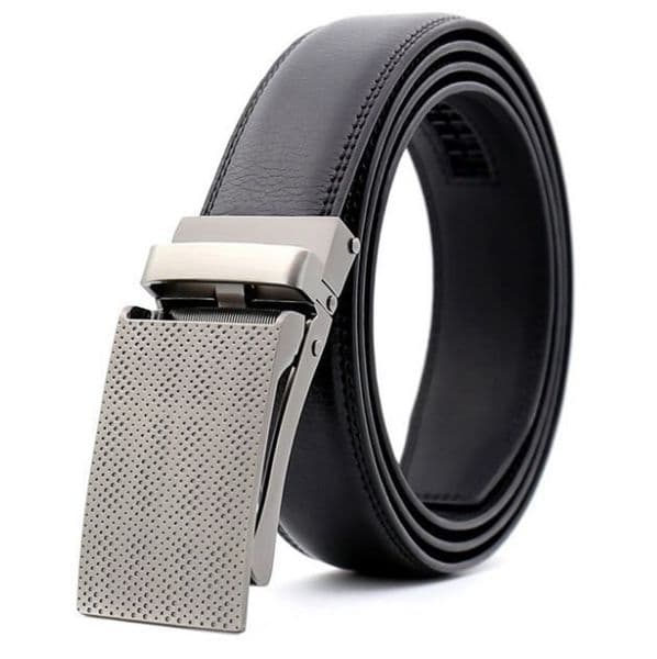 Belt Mens Black Genuine Leather Cowskin Men's Business Belts Designer Buckle  Zabardo