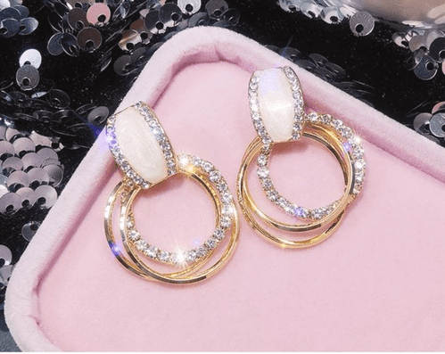 Earrings women's Rhinestone # Earrings fashion jewelry Zabardo (1)