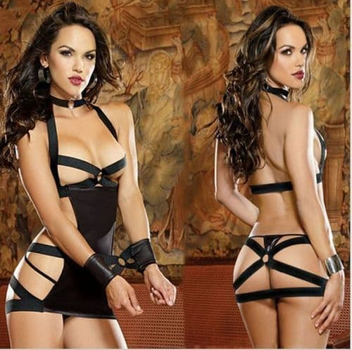 Womens Lingerie Sexy  Role Play Pole Dance Dominatrix  SM Outfit - Zabardo