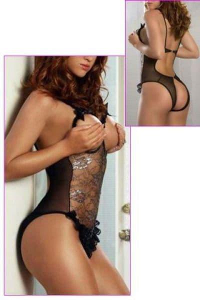 Womens Lingerie Sexy Teddy Open Cups Crotch Lace Teddy Plus Size  Zabardo